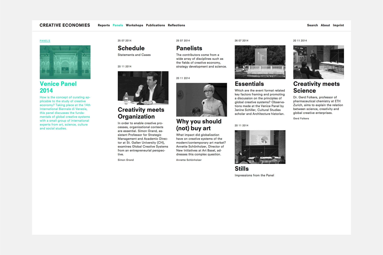 Creative Economies / Research Venue 2