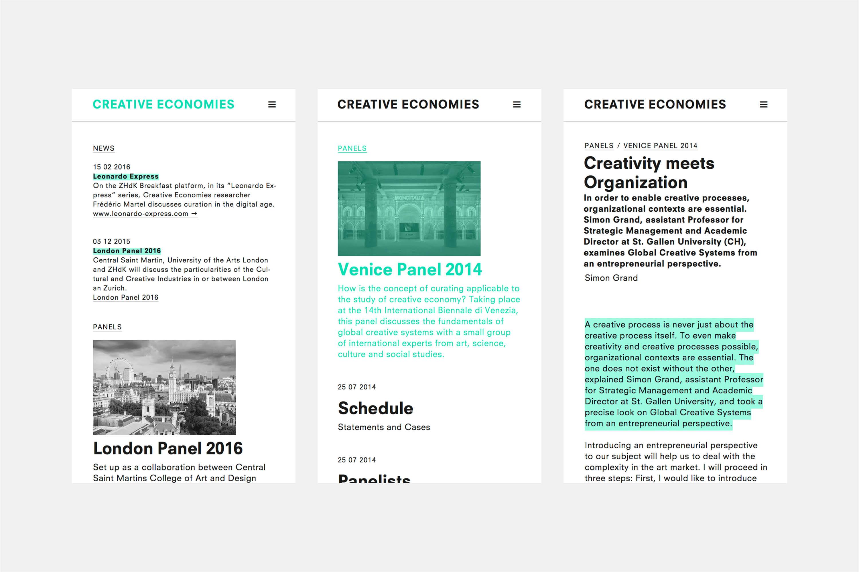 Creative Economies / Research Venue 4