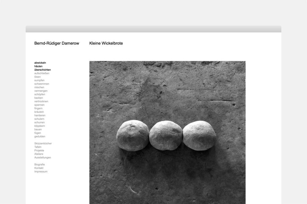 Bernd-Rüdiger Damerow Werkverzeichnis und Website