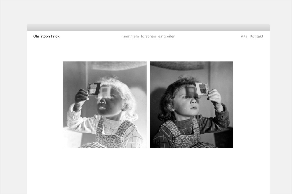 Christoph Frick Website