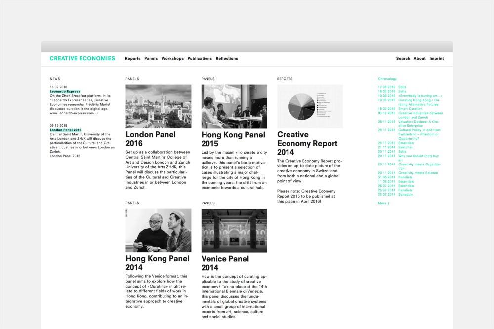 Creative Economies / Research Venue Website