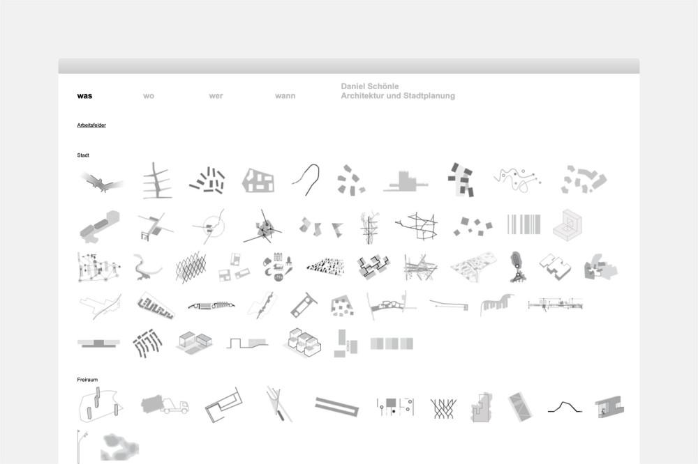 Büro Schönle, Architektur, Stadtplanung Website