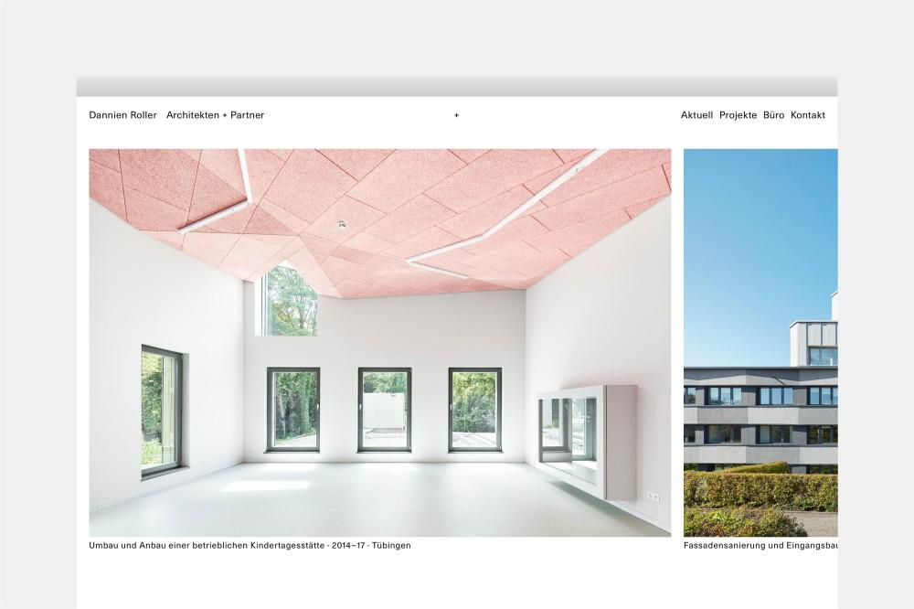 Dannien Roller Architekten + Partner Website und Erscheinungsbild