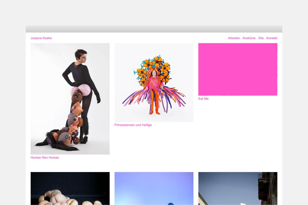 Justyna Koeke Website