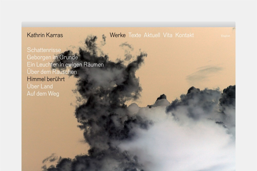 Kathrin Karras Website und Erscheinungsbild
