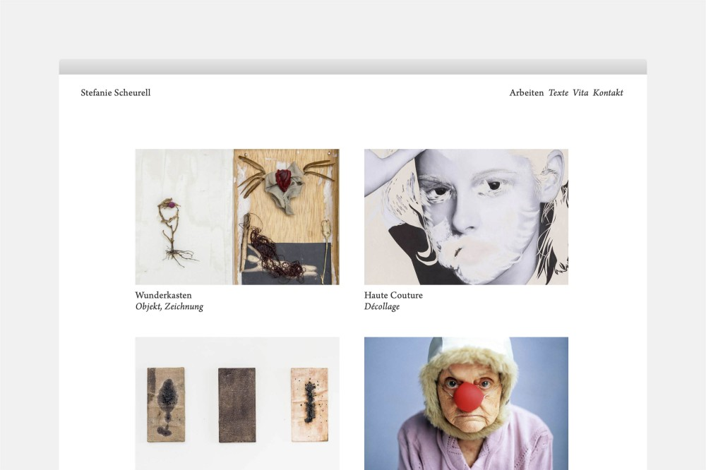 Stefanie Scheurell Website und Erscheinungsbild