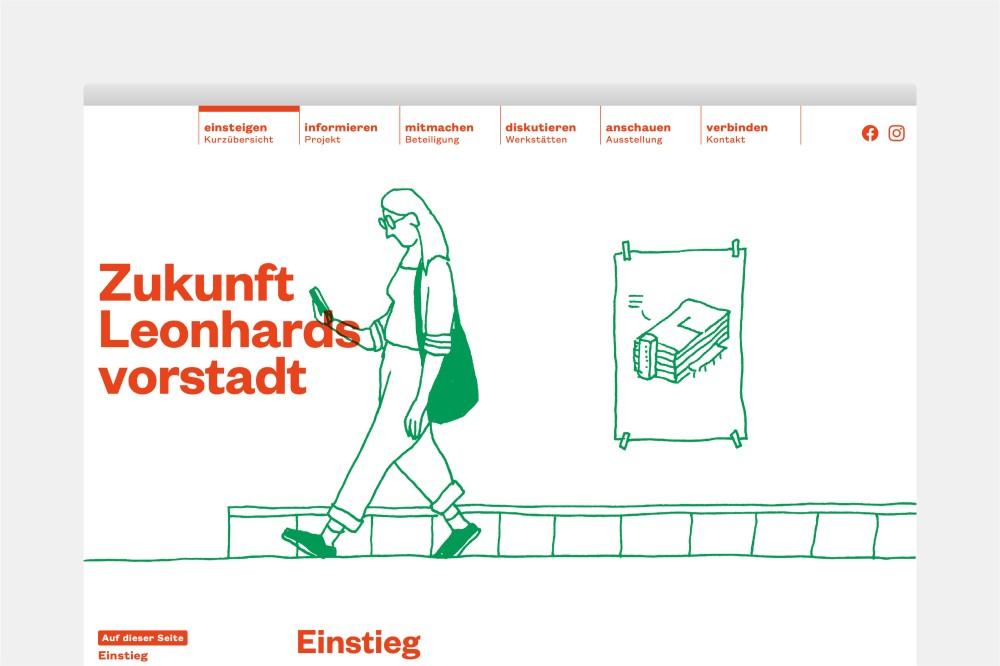 Zukunft Leonhardsvorstadt Website und Erscheinungsbild