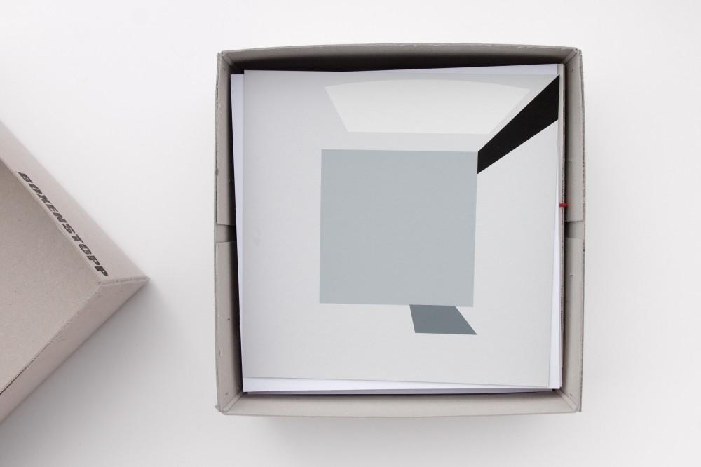 le cube Raumdrehung als Serigrafie
